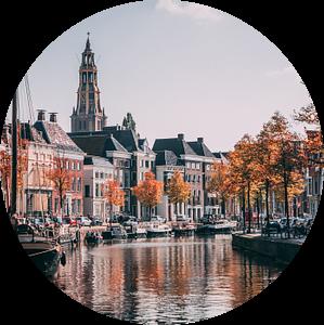 Hoge der Aa   Herfst in Groningen van Daniel Houben