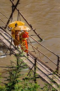 Boeddhistische jonge monniken in Luang Prabang, Laos