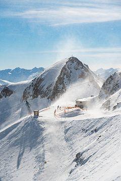 Sneeuwlandschap - schaufelsptize - Fulpmes - Stubai - Tirol - bergen - sneeuw - blauwe lucht - ooste van