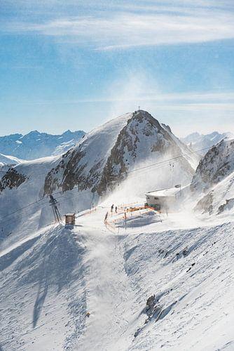Sneeuwlandschap - schaufelsptize - Fulpmes - Stubai - Tirol - bergen - sneeuw - blauwe lucht - ooste