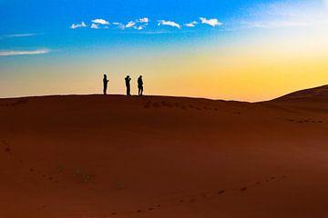 Zonsopkomst Sahara van Natuur aan de muur