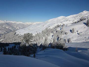Witte bergen, sneeuw von Sander van der Lem