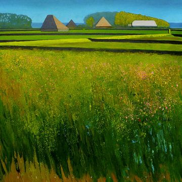 Dutch landscape on the isle of Texel sur Ger Veuger