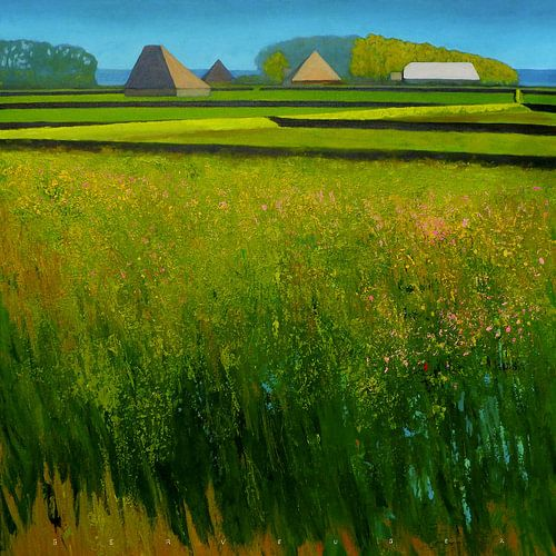 Holländische Landschaft auf die Insel Texel von