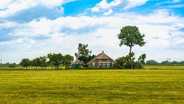 Hollands boerderij landschap van Bas Foto Art