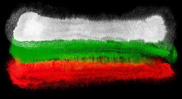 Symbolische nationale vlag van Bulgarije van Achim Prill
