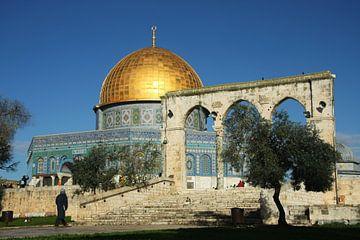 Moschee der Felsendom in Jerusalem. Das Heiligtum der muslimischen Welt ist eine Moschee mit einer F von Michael Semenov