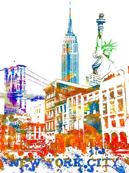 New York City van Printed Artings