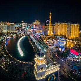 Las Vegas Skyline by night - Panorama van Edwin Mooijaart