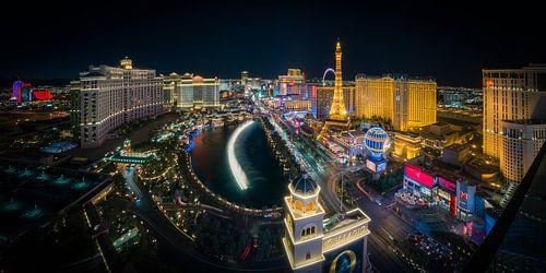 Las Vegas Skyline by night - Panorama van