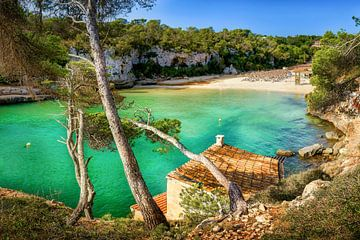 Zwembaai op het eiland Mallorca. van Voss Fine Art Fotografie