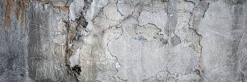 Oude, gebroken betonnen muur van Günter Albers