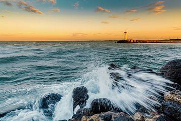 golven op de kust van Johan Strijckers