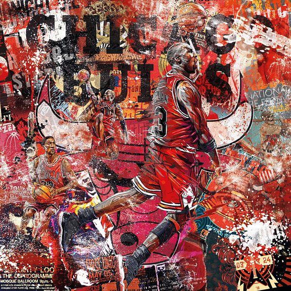 Michael Jordan Chicagoer Stiere von Rene Ladenius Digital Art