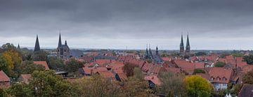 Oude stad, Quedlinburg; Harzgebergte, Saksen-Anhalt; Duitsland van Torsten Krüger