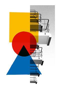Bauhaus-Balkone Dessau von Raymond Wijngaard