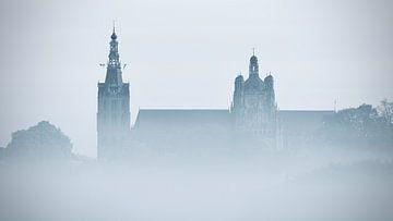 Der Heilige Johannes von Den Bosch wacht auf - schwarz/weiß von Jasper van de Gein Photography