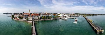 Friedrichshafen Lake Constance panoramic view van Uwe Ulrich Grün