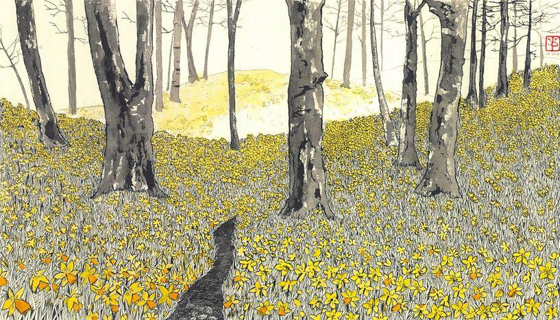 Daffodilforrest van Yvonne Jansen