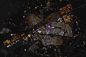 Kaart van Weert abstract