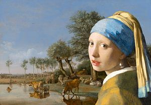 Girl with a Pearl Earring & The Reflecting Cow