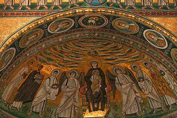 Mozaïek in de Eufrasiusbasiliek in Porec sur Antwan Janssen