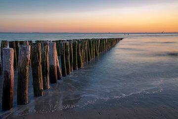 Coucher de soleil sur la mer sur Sjors Gijsbers