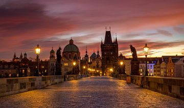 Sunrise on Charles Bridge, Prague von Adelheid Smitt