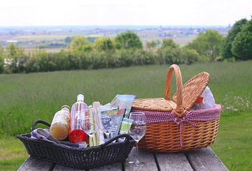Een picknick in de buitenlucht van Judith van Bilsen