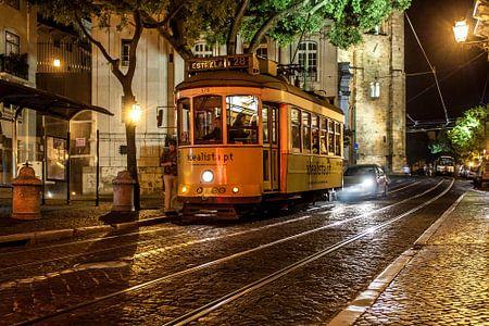 Straatscene uit Lissabon
