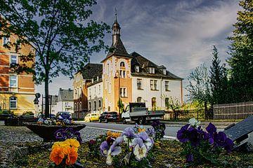 Natuur en landschap in het Erzgebirge Ehrenfriedersdorf van Johnny Flash