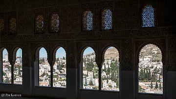 Granada vanuit Alhambra van Pim Korver