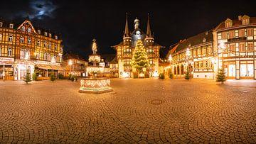 Panorama Wernigerode kerstmarkt van Oliver Henze