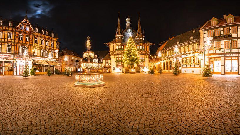 Panorama Wernigerode Weihnachtsmarkt von Oliver Henze
