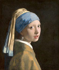 Mädchen mit dem Perlenohrring (spiegelbildlich) - Johannes Vermeer
