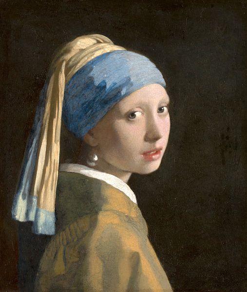 Mädchen mit dem Perlenohrring (spiegelbildlich) - Johannes Vermeer von Marieke de Koning