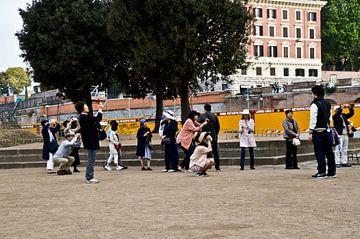 Aziatische toeristen in Rome