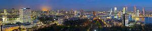 Overzicht skyline Rotterdam panorama van