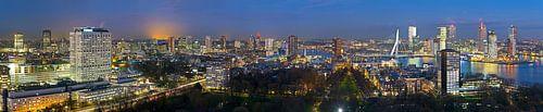 Overzicht skyline Rotterdam panorama van Anton de Zeeuw