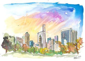 Später Nachmittag im Central Park New York City von Markus Bleichner