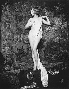 Pinup Hazel Forbes als vintage erotisch naakt model uit 1928 van Atelier Liesjes
