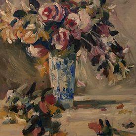 Stilleven van een vaas met bloemen van Nop Briex