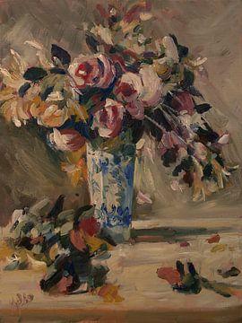 Stilleven van een vaas met bloemen
