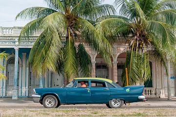 Cienfuegos Boulevard - Canvas versie von Theo Molenaar