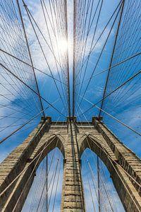 NEW YORK CITY Brooklyn Bridge in Detail