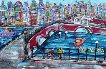 Auf dem Kanal Niederlande von Kunstenares Mir Mirthe Kolkman van der Klip
