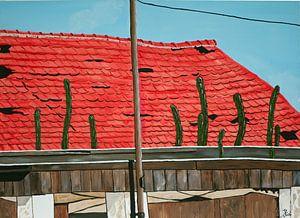 Verwaarloosd dak op Curaçao