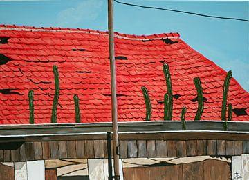 Verwaarloosd dak op Curaçao van Ilia Berends