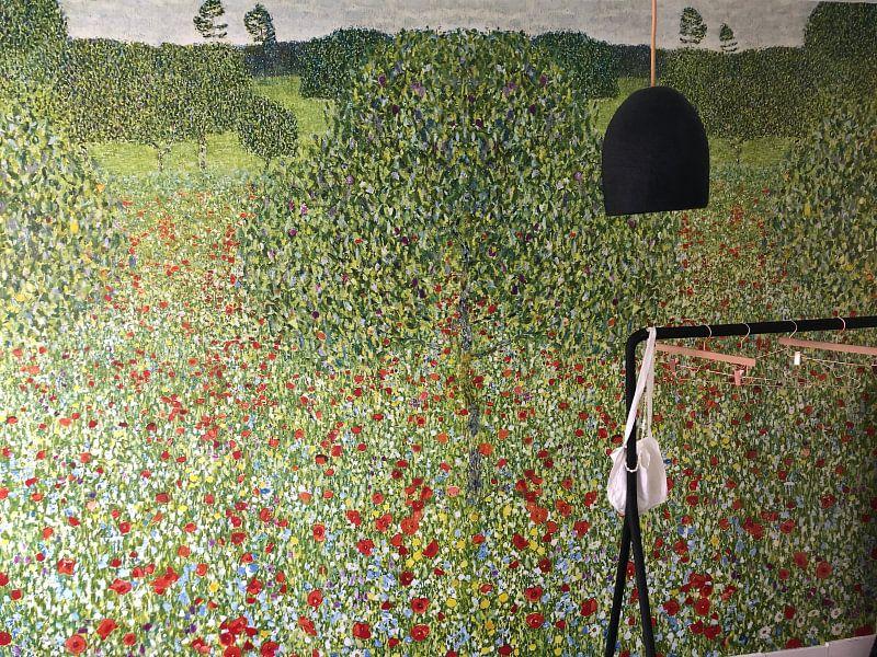 Klantfoto: Klaprozenweide, Gustav Klimt