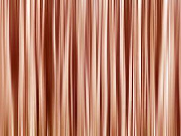 Hint of Trees (Abstracte Boomstammen in Rozerood) van Caroline Lichthart